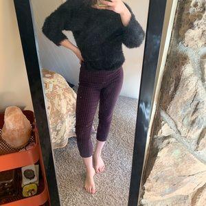 🧿vintage cropped houndstooth pants